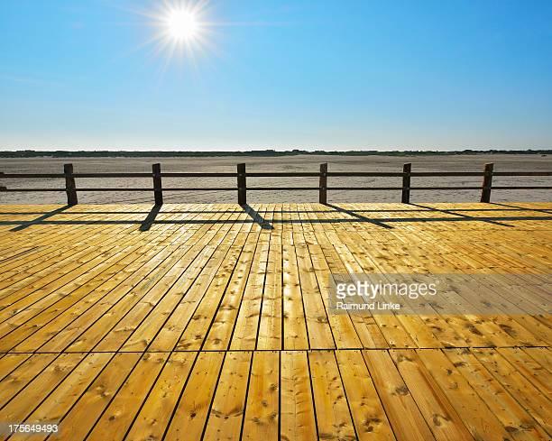 Wooden Floorboards on Beach Pedestal