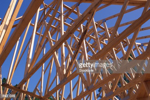 Wooden frame of house : Stock Photo