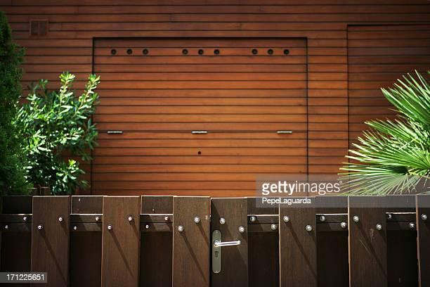 Hölzerne garage door