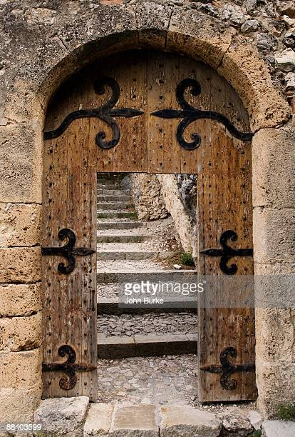 Wooden gate and steps in Provence, France