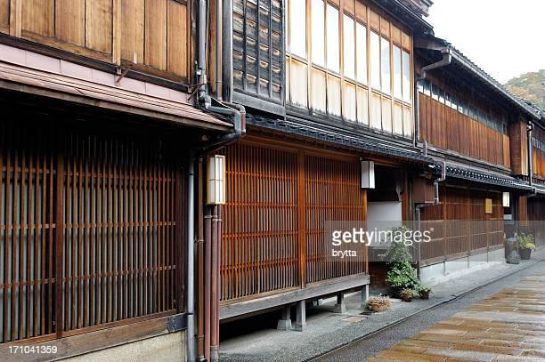 木製のゲイシャ、ティーハウスで東茶屋街、金沢,日本