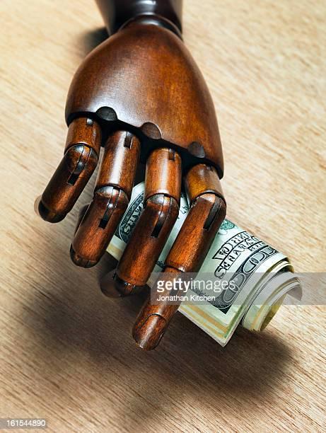 Wooden Hand Dollars