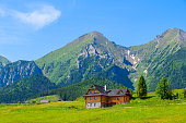 Spring season in Tatra Mountains National Park in Zdiar village, Slovakia