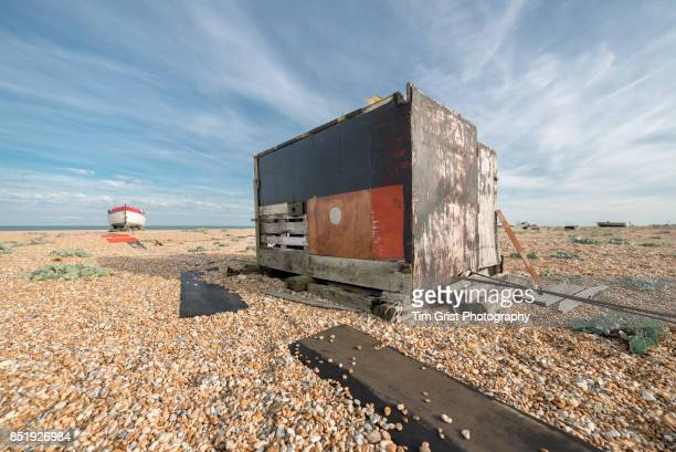 A Wooden Hut on the Beach at Dungeness