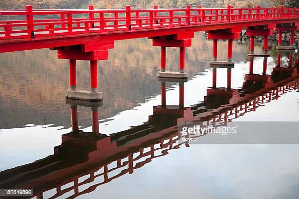Hölzerne japanischen Brücke