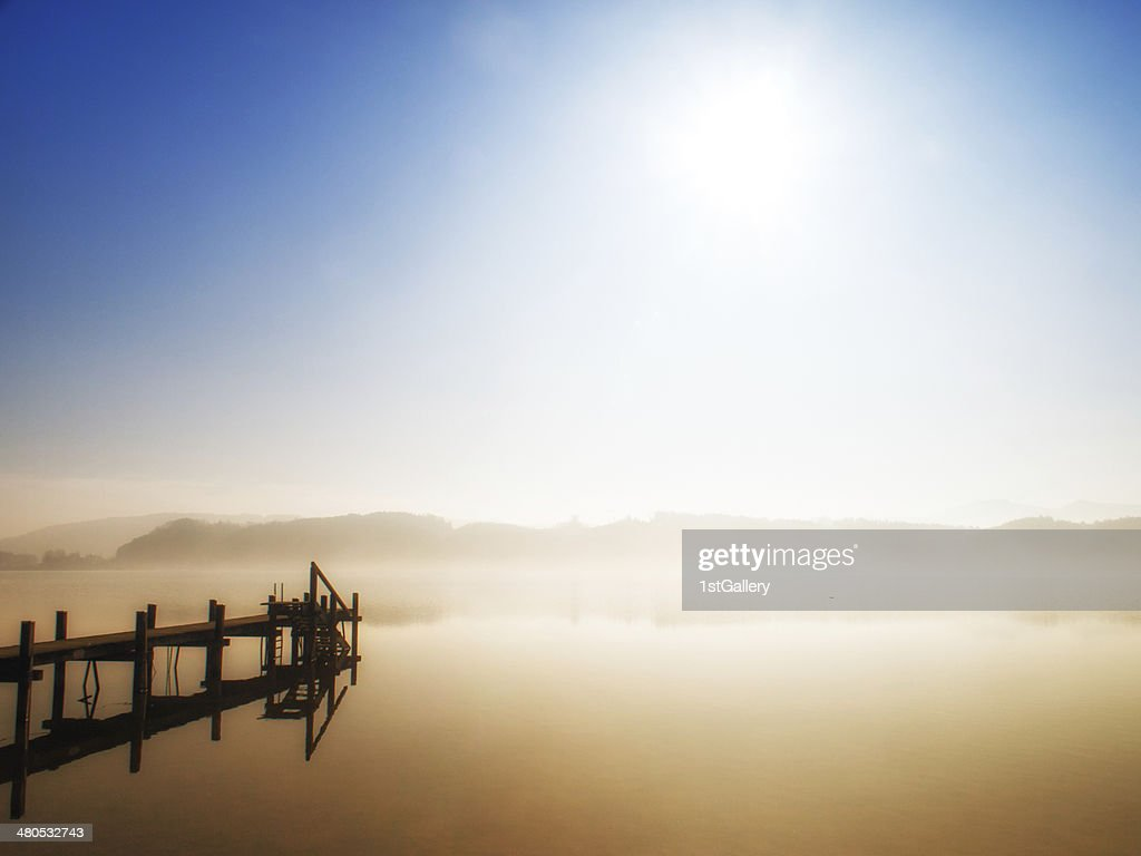 wooden jetty : Stock Photo