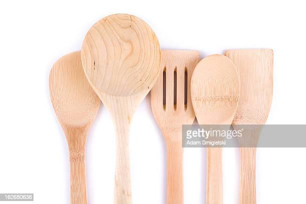 Hölzernen Küchenutensilien