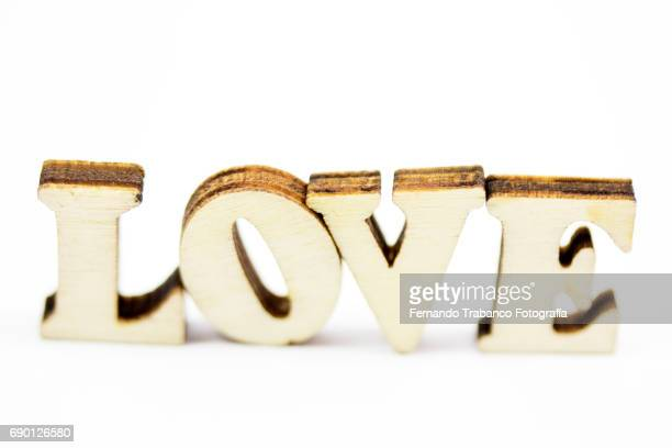 Wooden letters forming the word love