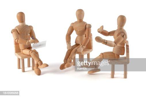 wooden mannequin talking