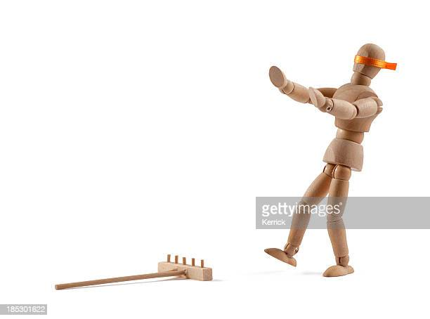 Wooden Mannequin walking blind