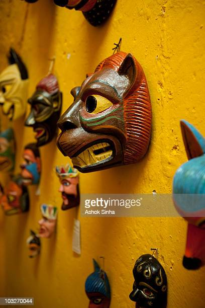 Wooden masks from the Tigua province