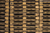 Wooden pallet created texture and pattern