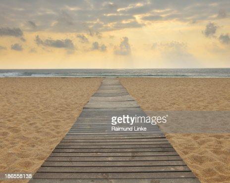 Wooden Path too Beach