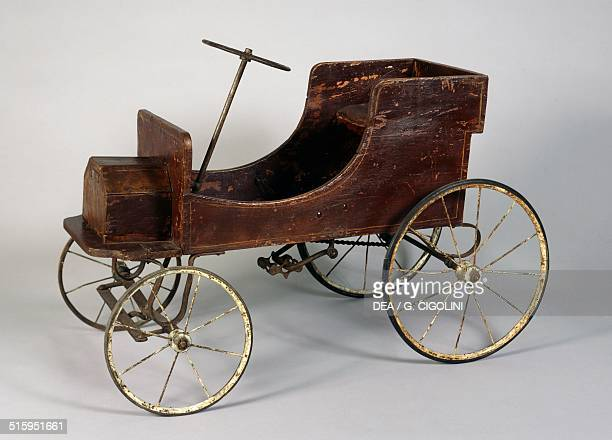 Wooden pedal car made by Pierantoni Italy early 20th century