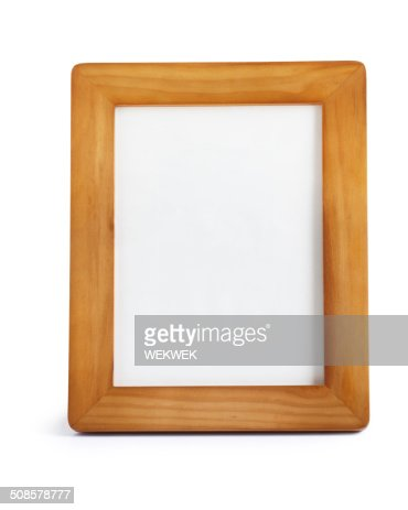 Wooden photo frame : Stockfoto