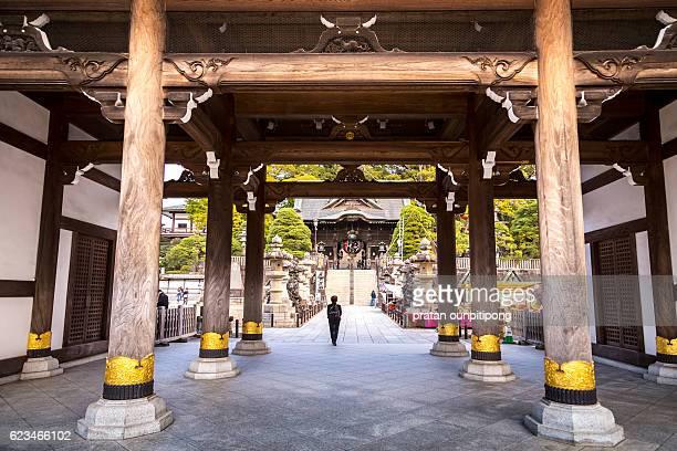 Wooden pillars in naritasan