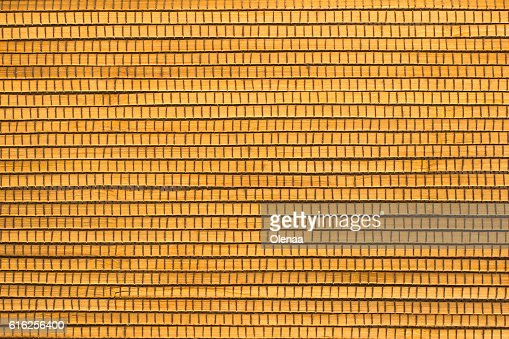 Wooden planks stitched with threads : Foto de stock