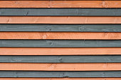 front view of different color wooden planks wall background texture