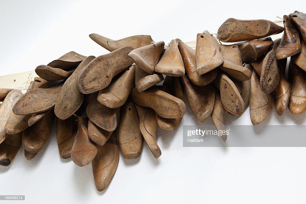 Wooden shoe molds