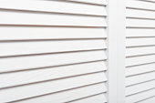 White wooden shutters closeup