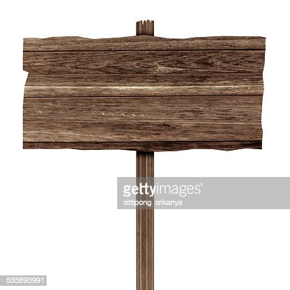 Wooden sign isolated on white. Wood old planks : Stockfoto