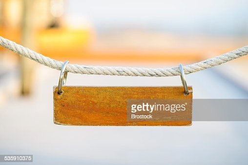 Wooden sign : Stock Photo