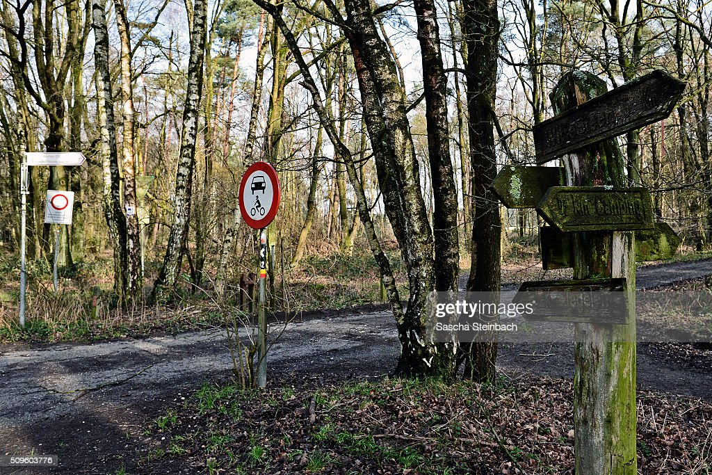 Wooden signs mark entry to Holland at Ravensstreet on the German-Dutch border on February 11, 2016 near Kaldenkirchen, Germany. Despite an announcement by Dutch authorities two days before that effective immediately police would begin conducting stricter controls of incoming traffic at border crossings to Germany not a single Dutch police officer was present at at least 15 border crossings today. Dutch authorities made the announcement as part of an effort to prevent migrants who have no case for asylum from entering Holland.
