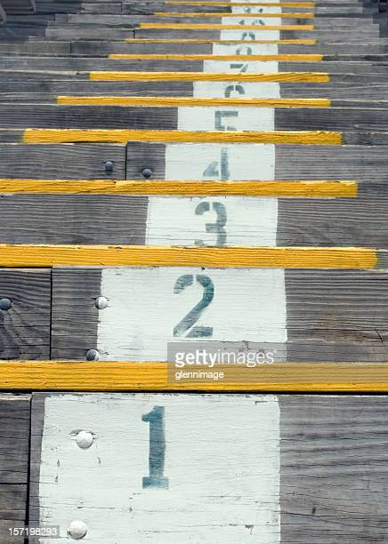 Wooden stadium steps