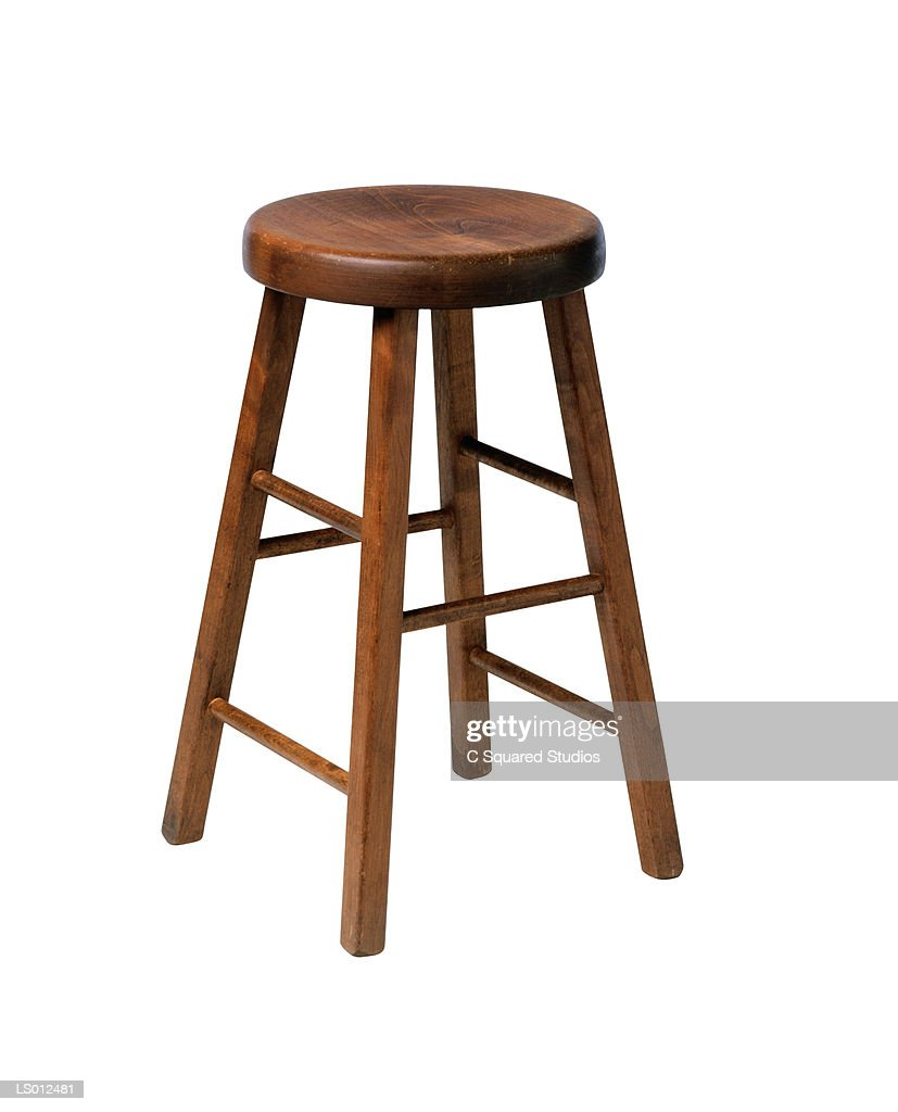Wooden Stool : Stock Photo