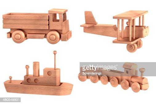 Juguetes de madera : Foto de stock