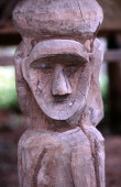 A wooden tribal carving found outside the Iko village of Ban Soppee in Luang NamTha province in Northern Laos The northern hilltribes believe that...