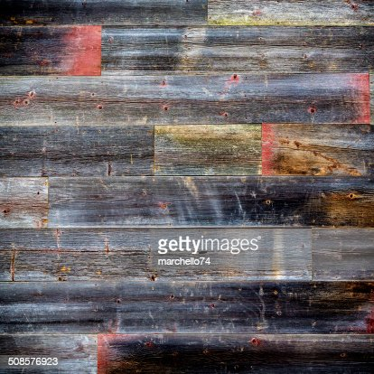 Wooden wall background board : Stock Photo