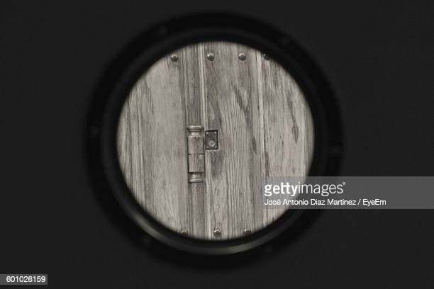 Wooden Wall Seen Through Peephole