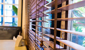 Wooden Window curtain shutter