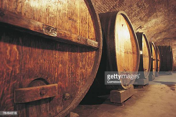 Wooden wine casks