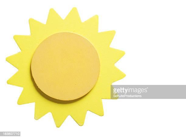 Hölzerne Yellow Sun