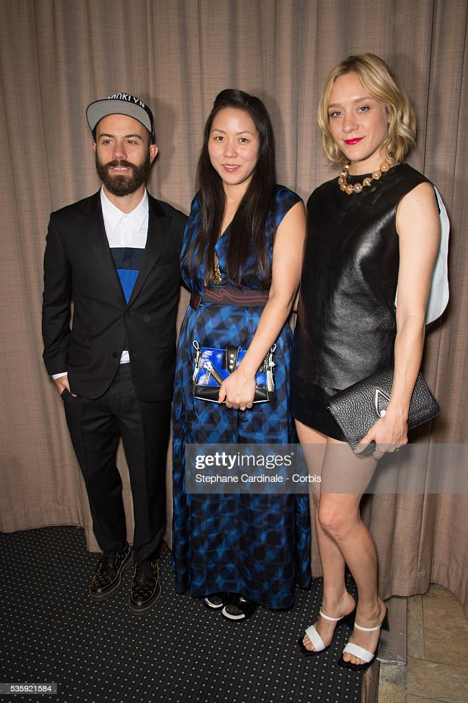 Woodkid, Carol Lim and Chloe Sevigny attend the Sidaction Gala Dinner at Pavillon d'Armenonville, in Paris.