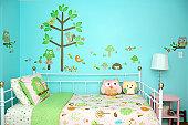 Woodland themed girl bedroom.