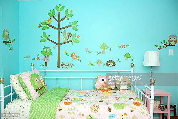 Woodland themed girl bedroom.