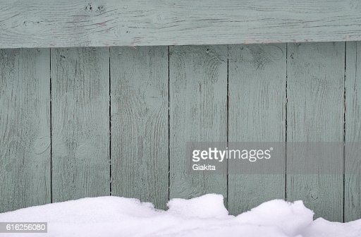 Woods wall with snow : Foto de stock