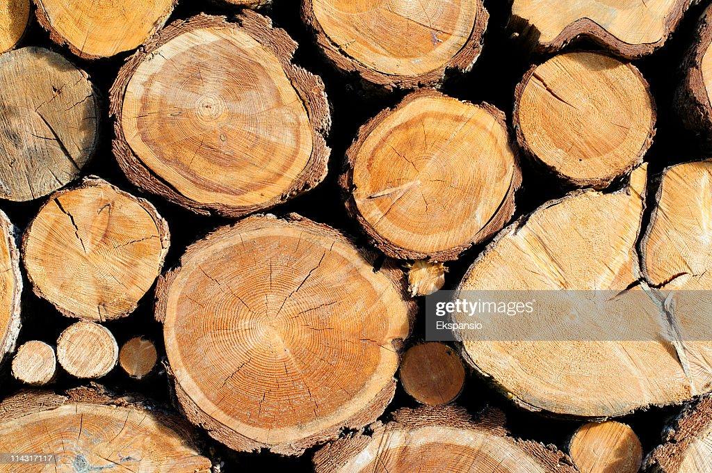 Woodstack Background : Stock Photo