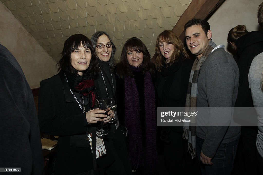 Woodstock Film Festival Co-Director Meira Blaustein, Composer Miriam Cutler, Executive Doreen Ringer Ross, Journalist Veira Goldstein and Music Agent Kevin Korn attend BMI dinner during the 2012 Sundance Film Festival held at Zoom Restaurant on January 24, 2012 in Park City, Utah.