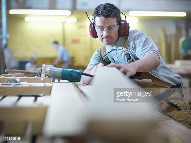 Woodworker in workshop