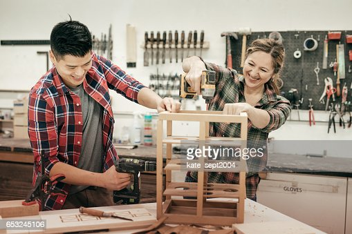Woodworking as a hobby : Stock-Foto