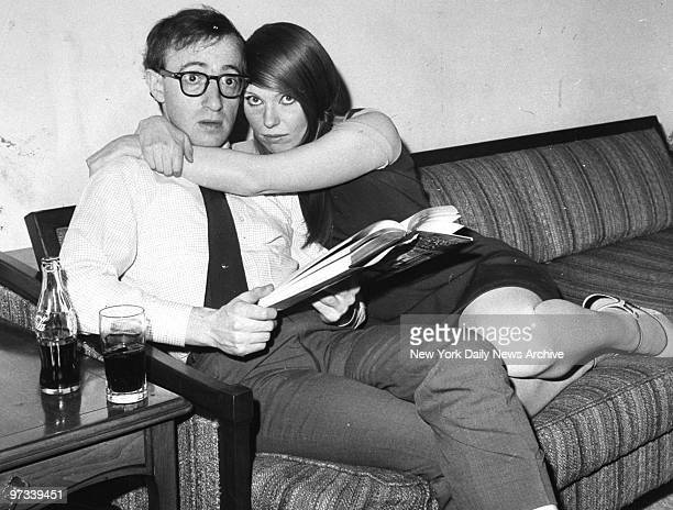 Woody Allen and his wife Louise Lasser in their suite at the Americana Hotel