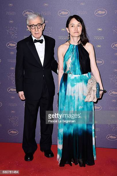 Woody Allen and his wife Soon Yi Previn arrive at the Opening Gala Dinner during The 69th Annual Cannes Film Festival on May 11 2016 in Cannes France