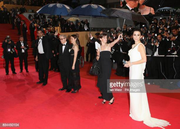 AP OUT Woody Allen and his wife SoonYi attend Penelope Cruz attends the premiere for Woody Allen's Vicky Cristina Barcelona at the 61st Cannes Film...