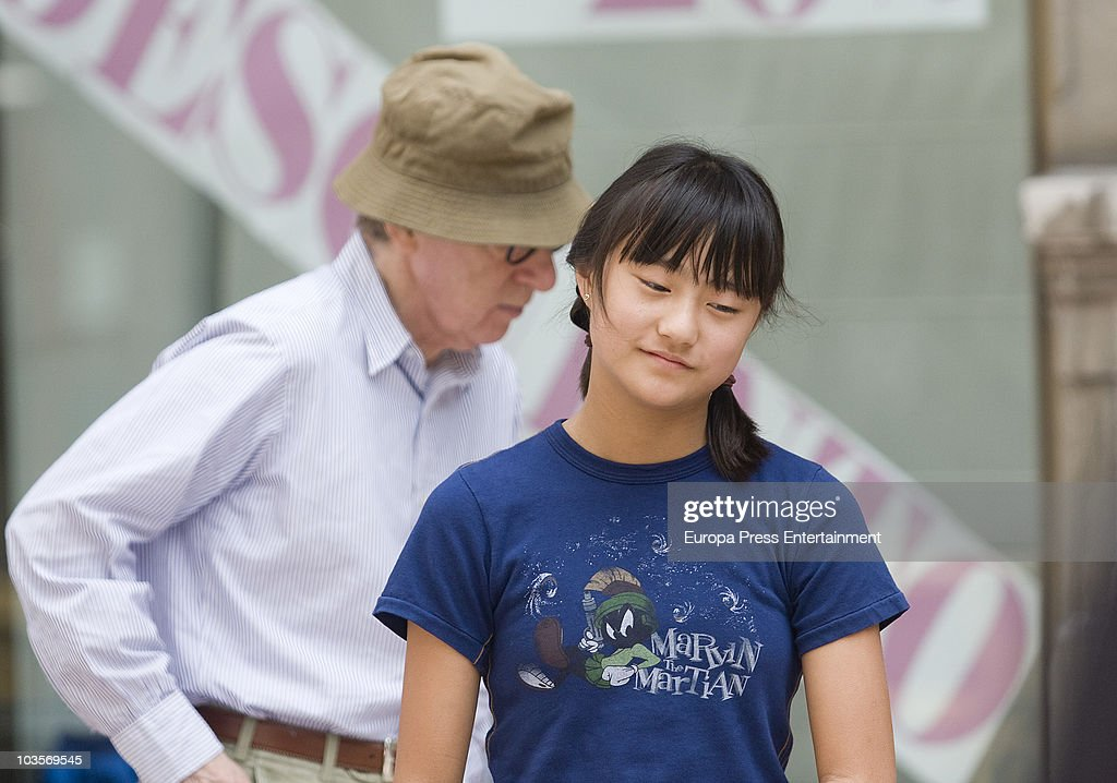 <a gi-track='captionPersonalityLinkClicked' href=/galleries/search?phrase=Woody+Allen&family=editorial&specificpeople=202886 ng-click='$event.stopPropagation()'>Woody Allen</a> and Manchie Tio go for a walk on August 24, 2010 in Oviedo, Spain.