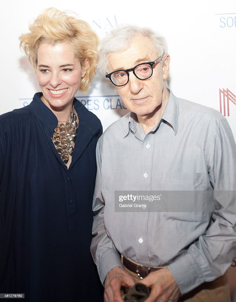 Woody Allen (R) and Parker Posey attend the Chicago premiere of 'Irrational Man' at Bellweather Meeting House & Eatery on July 18, 2015 in Chicago, Illinois.