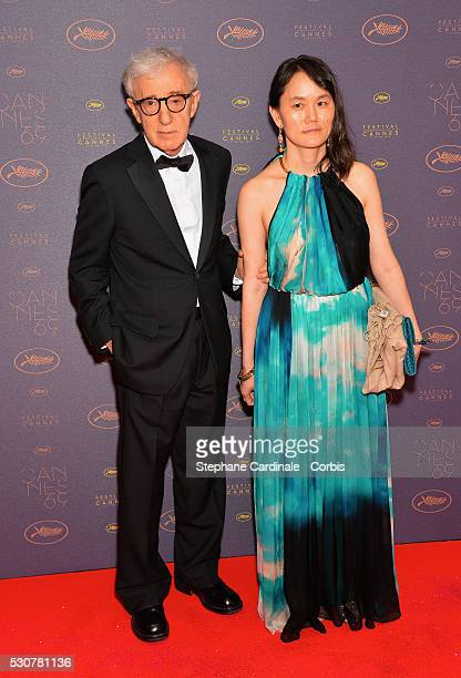 Woody Allen and Soon Yi Previn arrive at the Opening Gala Dinner during The 69th Annual Cannes Film Festival on May 11 2016 in Cannes France